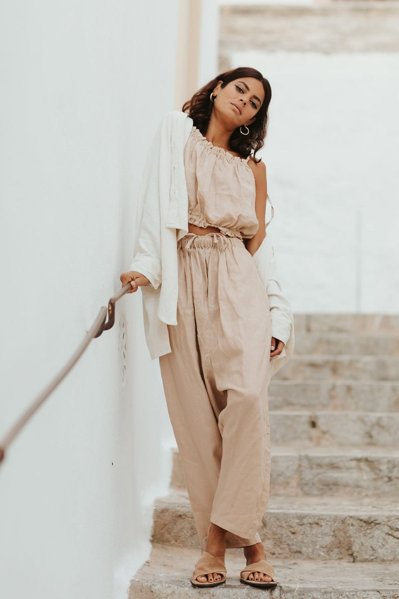 Grace Jacket + Mona Top + Mona Pant Set (Clay)