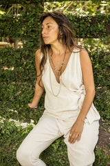 Tru Playsuit (whitesand,linen/cotton)
