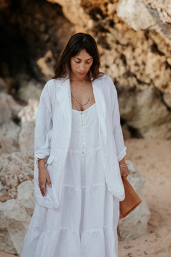 The Maha Set II: Eagle Blazer + La Mexicana Playsuit (100% Linen)