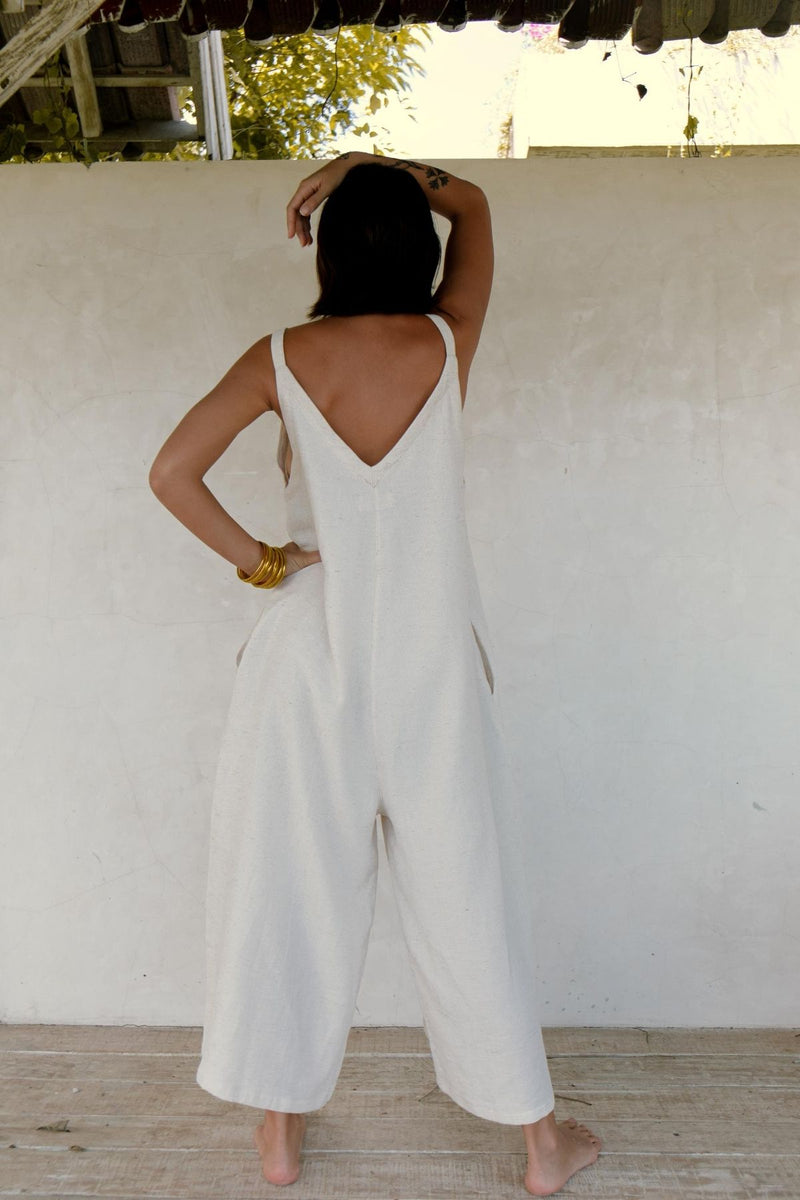 Kundalini Playsuit (White Sand Edition, Linen/Cotton Blend) Pre-Order