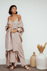 Radiant Gown (100% Linen, Royal Lavender)