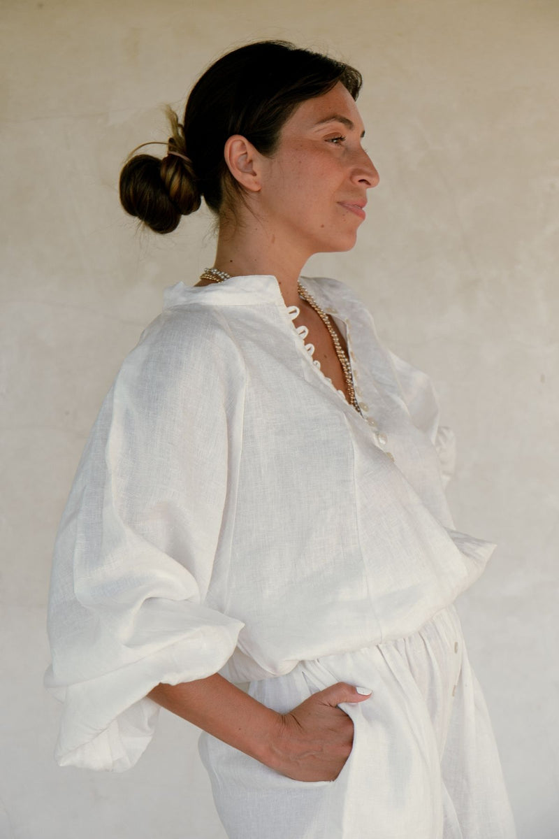 Frida Top & Nidra Pant Set (100% Linen)