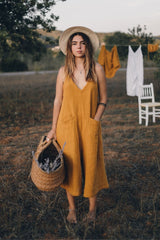 Golden Chain Romper (100% Double Cotton)