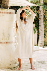 FRIDA Gown Short (Linen/Rayon, available in multiple colors)