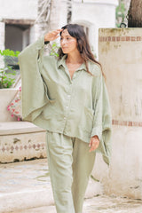 Grace Jacket (Linen / Rayon Blend) Rosemary Green PRE-ORDER