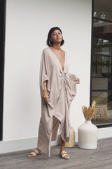 Limited Edition Virgo Kaftan (100% Bamboo Rayon, Royal Lavender/Nude)