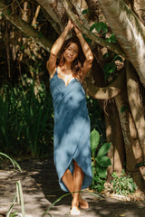 Brida Gown Short Limited Edition (100% Cotton, Spring Clay)