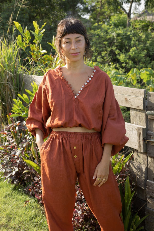 Harvest Moon - Frida Top & Nidra Pant Set (100% Linen)