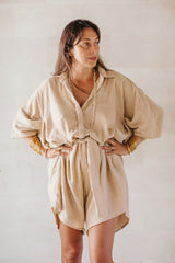 Clay Origami Playsuit (100% Special Cotton)