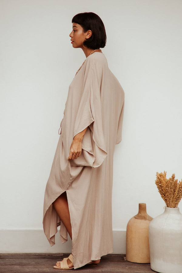 Limited Edition Virgo Kaftan (100% Bamboo Rayon, Spring Clay)