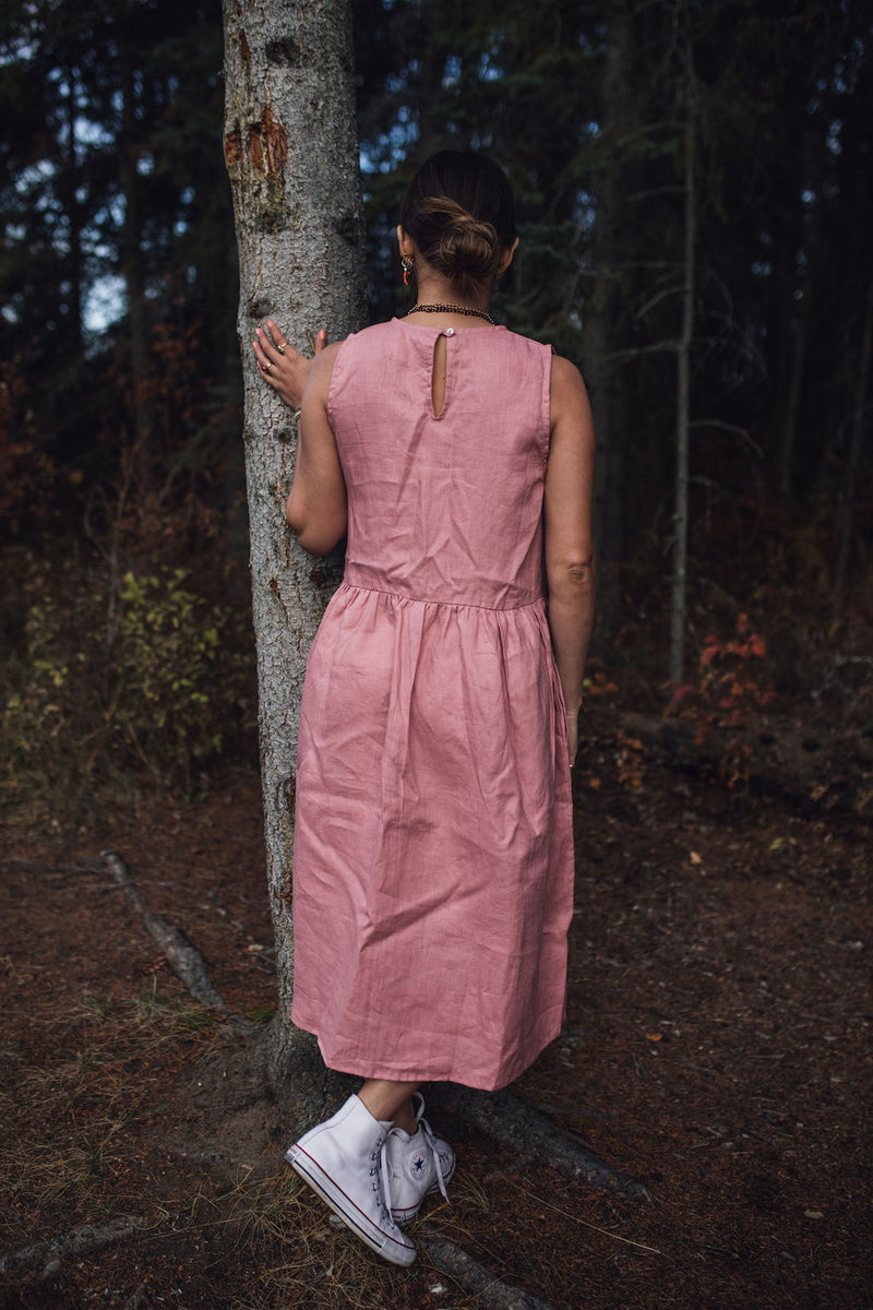 Desert Rose Pink Bloom Gown (Linen, Limited Edition)