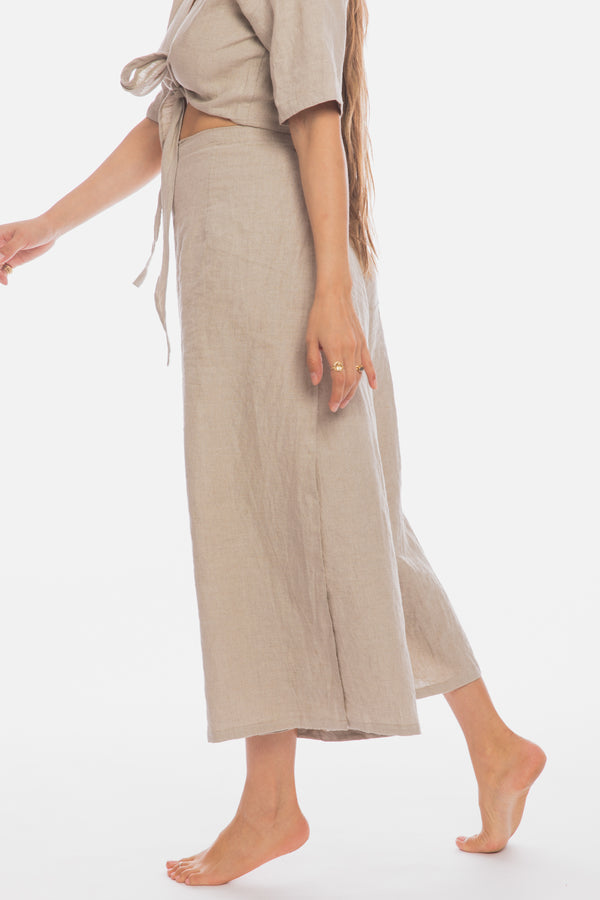 Tara Two Piece  (100% Linen, Flax Beige)