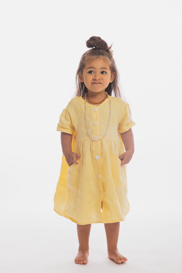 Lila Gown (Canary Island, 100% Linen, Size 2-4T)
