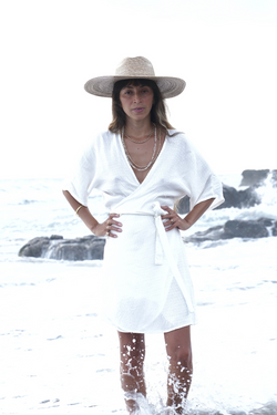 "Magdalena Kimono Dress ""Short Linen Edition"" (Pre-Sale Special)"