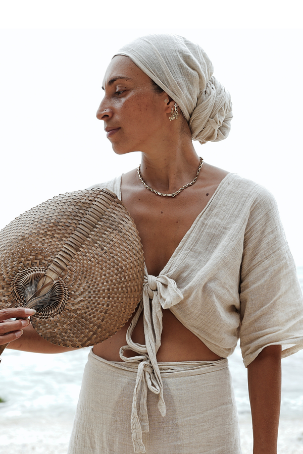 Tara Head Wrap (Natural Linen)