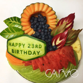 The chef who carves traditional patterns into fruits and