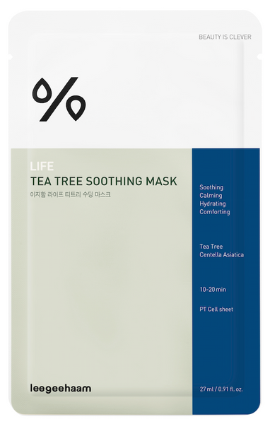 Life Tea Tree Soothing Mask (Mascarilla facial para piel con problemas)
