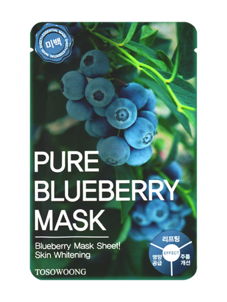 Pure Blueberry Mask (Mascarilla facial anti manchas y anti arrugas)