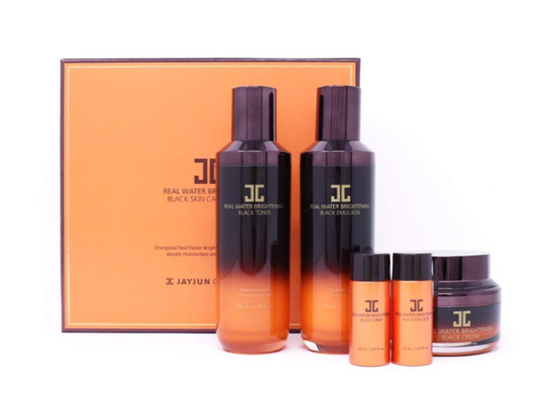Real Water Black Skin Care Set (Kit rutina completa humectante e iluminador)