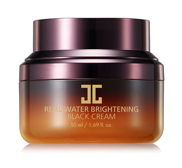 Real Water Brightening Black Cream (Crema facial para humectación profunda)