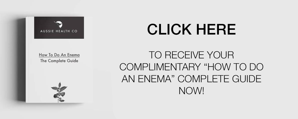 Book entitled How to do an enema and text beside it - click here to receive your complimentary how to do an enema complete guide now!