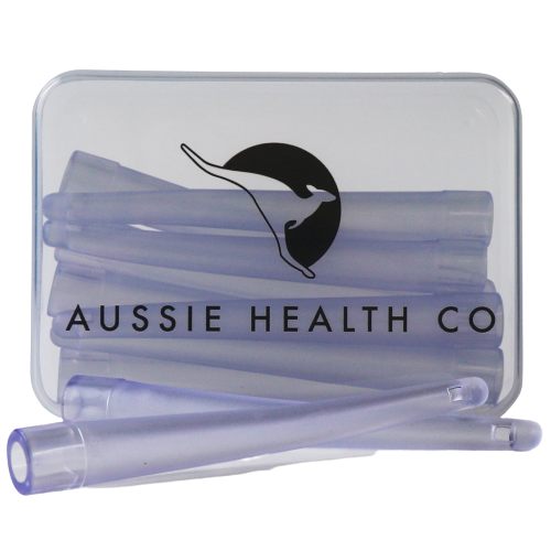 Enema Nozzle Tips front view with Aussie Health Co logo