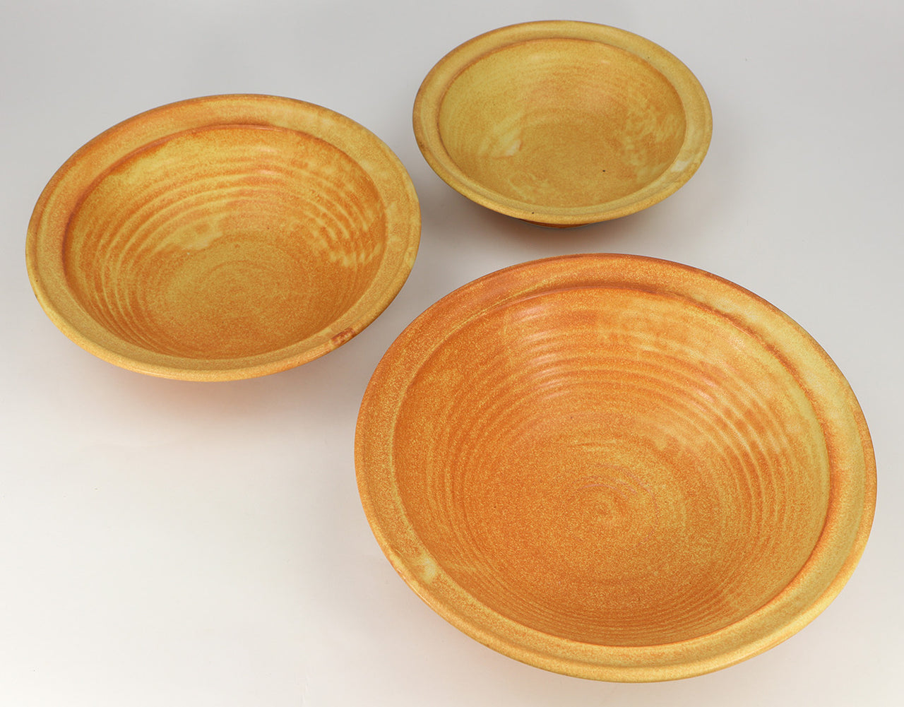 3-Piece Nesting Serving Bowl Set (24-64 oz.): Winoker Yellow Fern Pattern