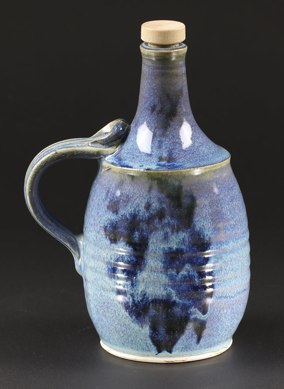 1-liter Bottle: Rutile Blue Fern Pattern