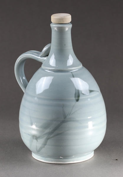 1-liter Bottle: Blue Celadon Bamboo Pattern