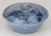 Small Lidded Bowl (26 oz.): Rutile Blue Fern Pattern