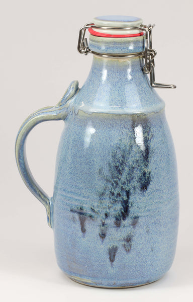 2-liter Growler: Rutile Blue Fern Pattern