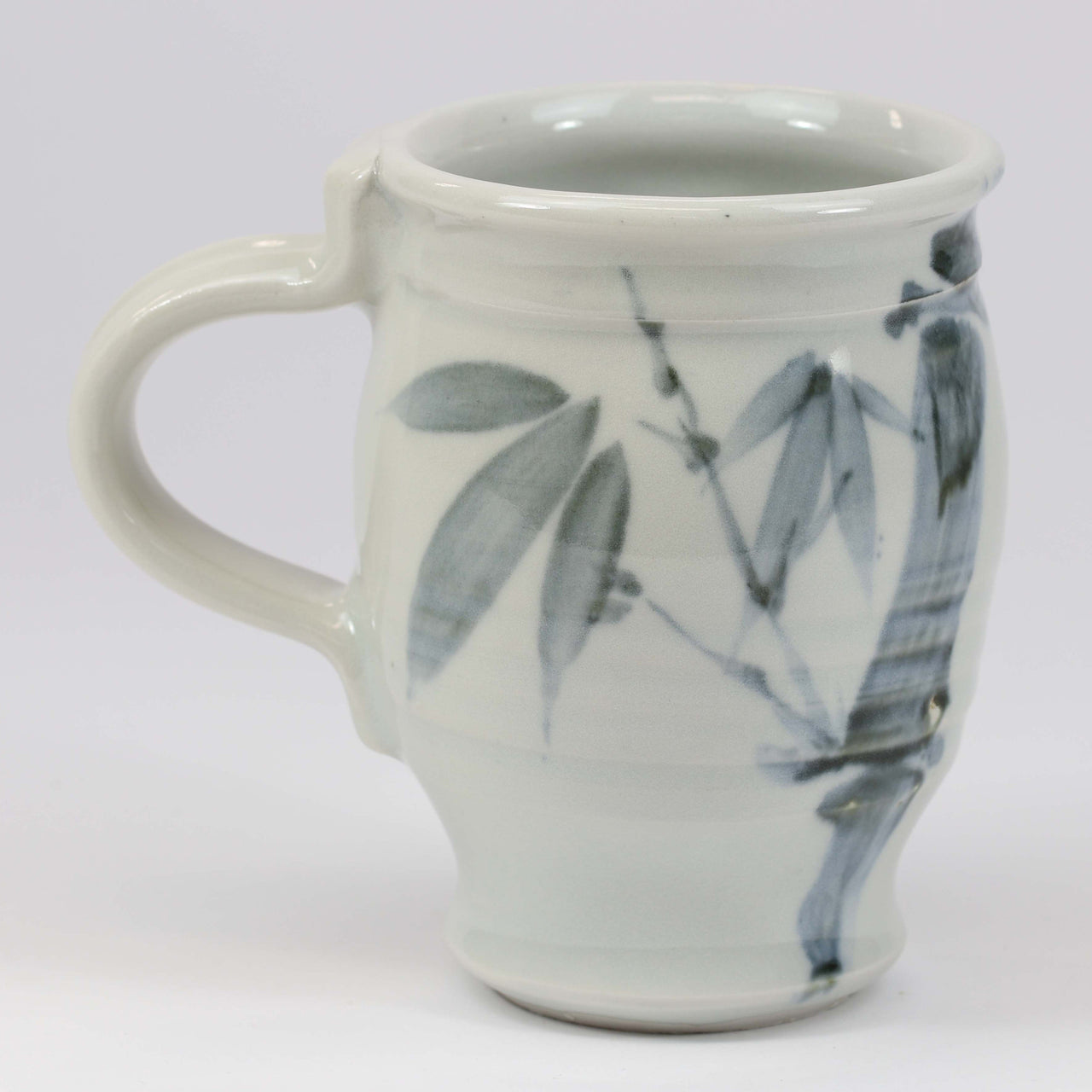 Large 16 oz. Mug: Clear Celadon Bamboo Pattern