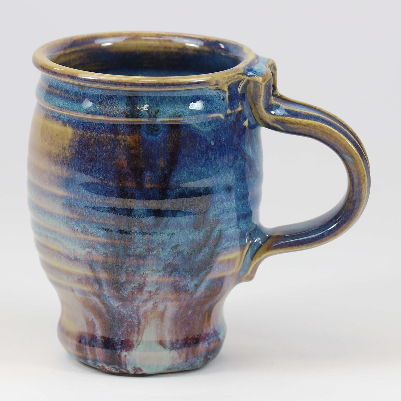 Large 16 oz. Mug: Abalone Fern Pattern