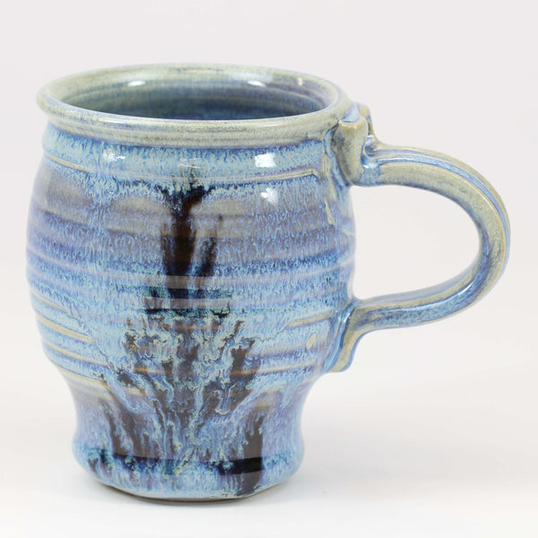 Large 16 oz. Mug: Rutile Blue Fern Pattern
