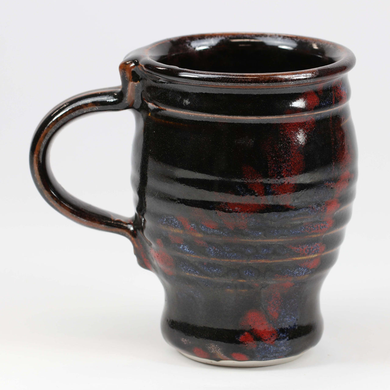 Large 16 oz. Mug: Temoku Fern Pattern