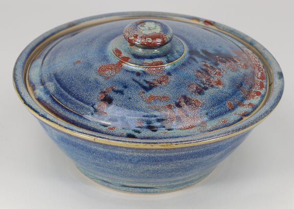 Large Lidded Bowl (48 oz.): Abalone Fern Pattern