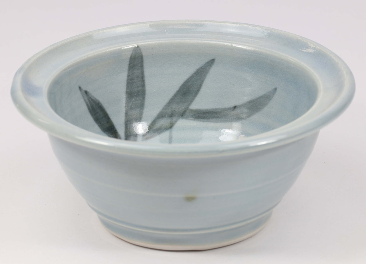 Beautiful, durable porcelain small bowl in a hand-painted bamboo pattern and translucent glaze. Approximately 16 ounces in volume, chip-resistant, oven- and dishwasher-safe. Each piece is unique--shape, size and color will vary.