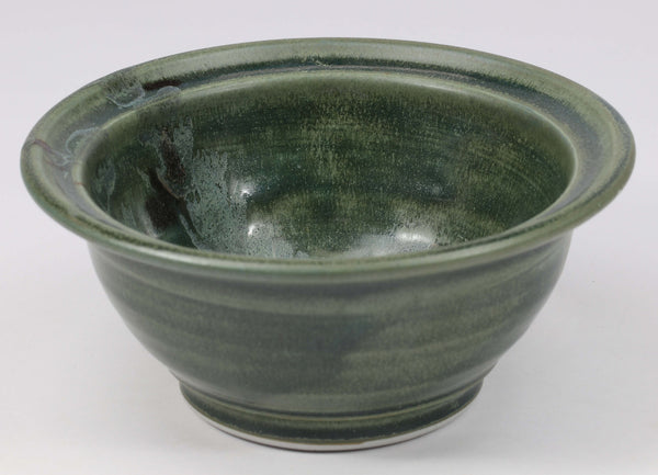 Beautiful, durable porcelain small bowl in a subtle leaf-printed botanical pattern and striking glaze colors. Approximately 16 ounces in volume, chip-resistant, oven- and dishwasher-safe. Each piece is unique--shape, size and color will vary.
