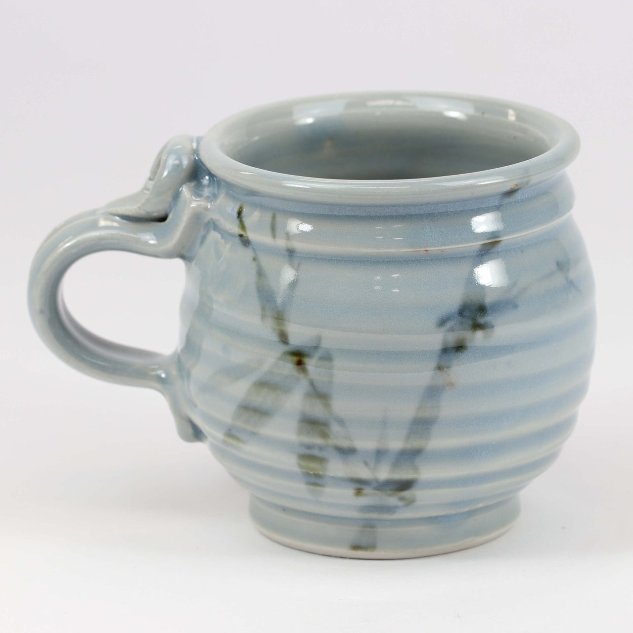 Small 11 oz. Mug: Blue Celadon Bamboo Pattern