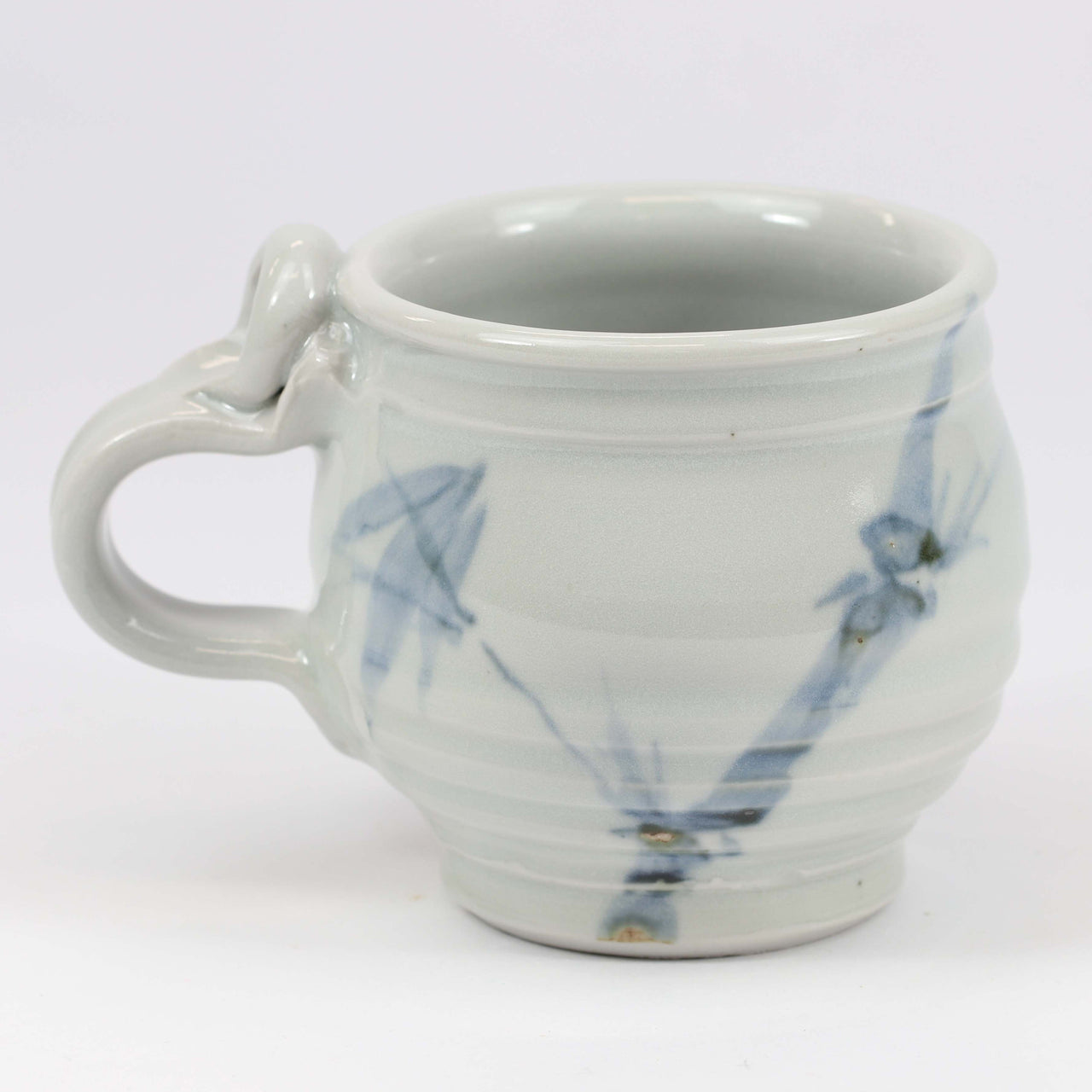 Small 11 oz. Mug: Clear Celadon Bamboo Pattern