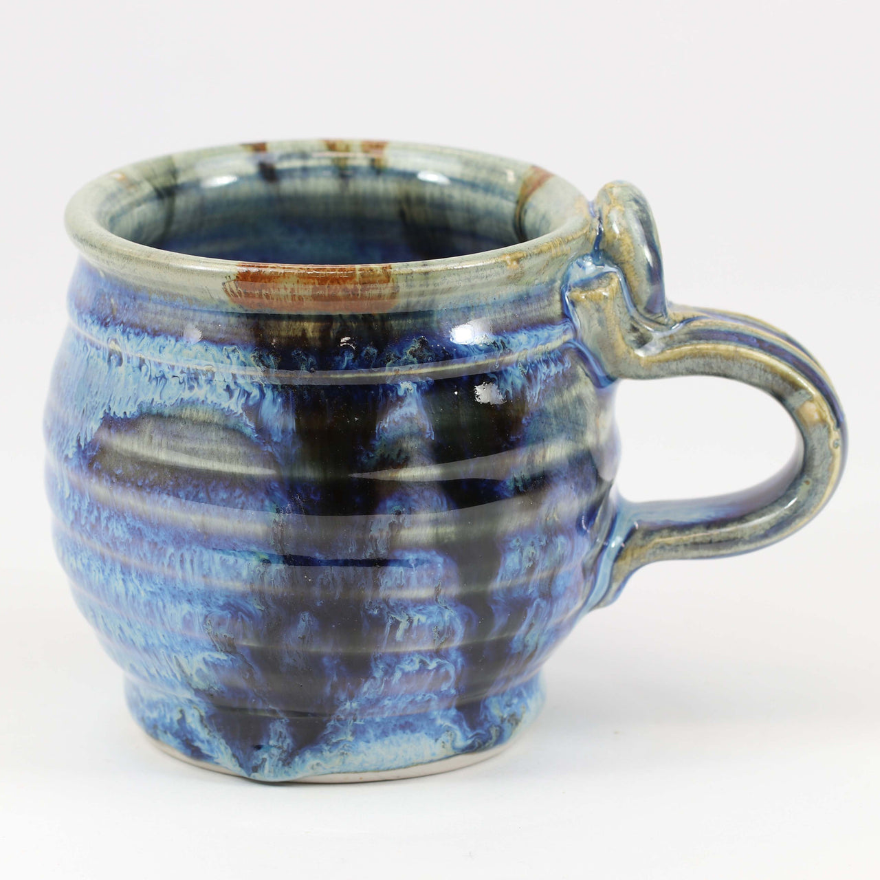 Small 11 oz. Mug: Rutile Blue Fern Pattern