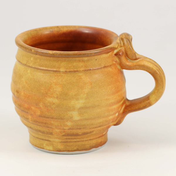 Small 11 oz. Mug: Winokur Yellow Fern Pattern