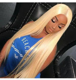 Queen Hair 613 Blonde 3/4Bundles With 13x4 lace frontal