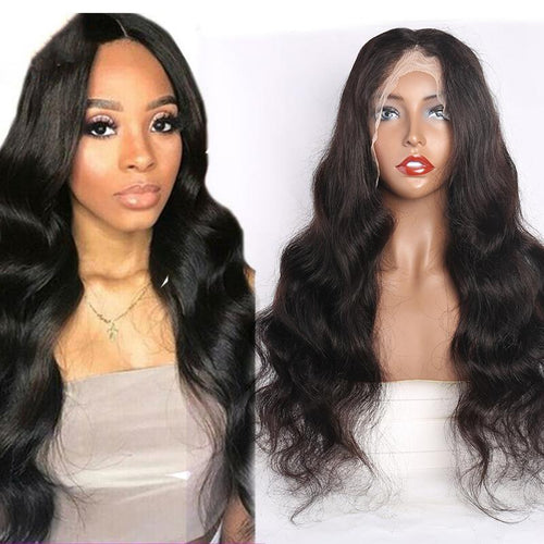 Queen Hair Inc 10a+ 150 Density Virgin Hair 13*6 HD Lace Frontal Wigs Body wave invisible lace 100% Human Hair