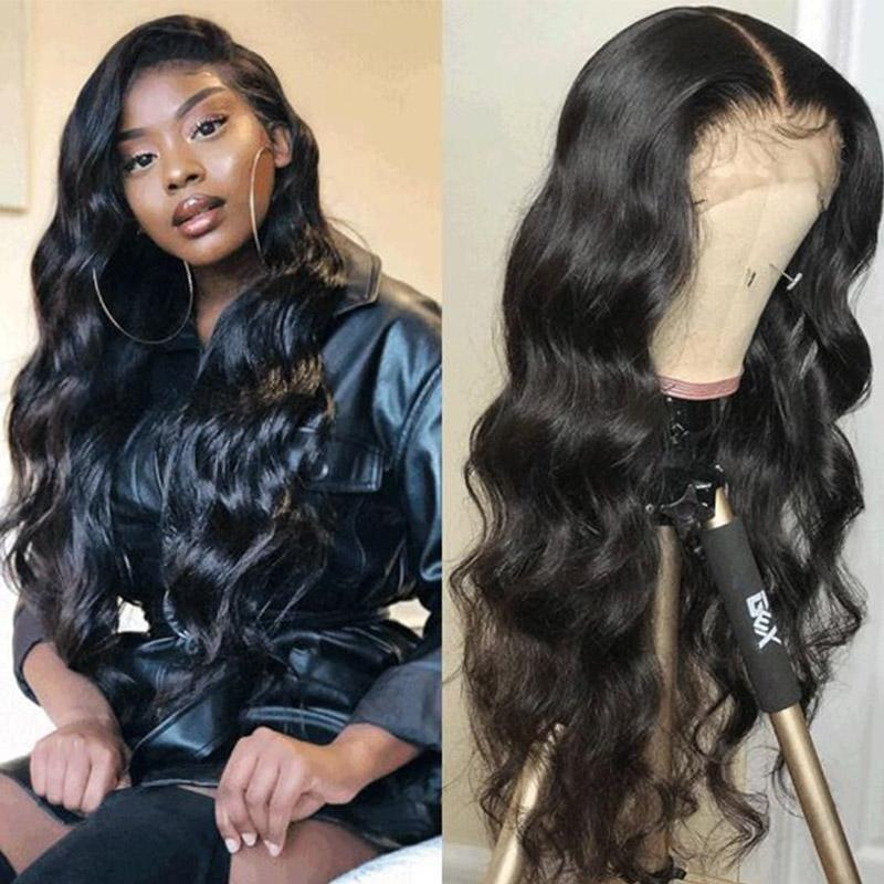 Queen Hair Inc 10a+ 150 Density Virgin Hair 13*6 Lace Frontal Wigs Body wave 100% Human Hair