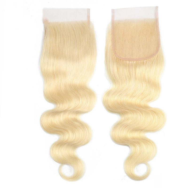 Queen Hair Inc 4x4 Lace Closure #613 Blonde Color Free Part Body wave