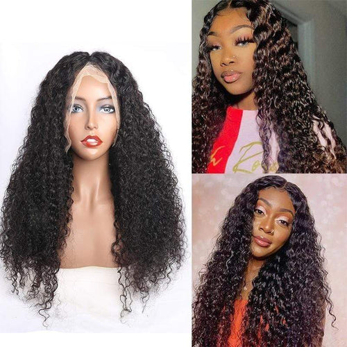 Queen Hair Inc 10a+ 150 Density Virgin Hair 13*6 HD Lace Frontal Wigs Deep wave invisible lace 100% Human Hair