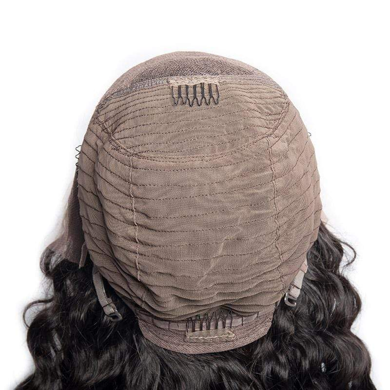 Queen Hair Inc 10a+ 150 Density Virgin Hair 13*6 Lace Frontal Wigs Deep wave 100% Human Hair