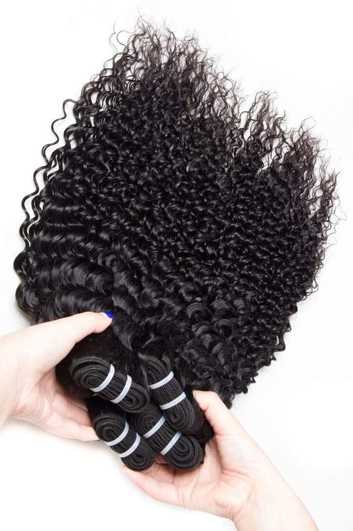 Queen Hair Inc Grade 8A+ 4bundles Deep wave No Tange No Shedding 100% Human hair