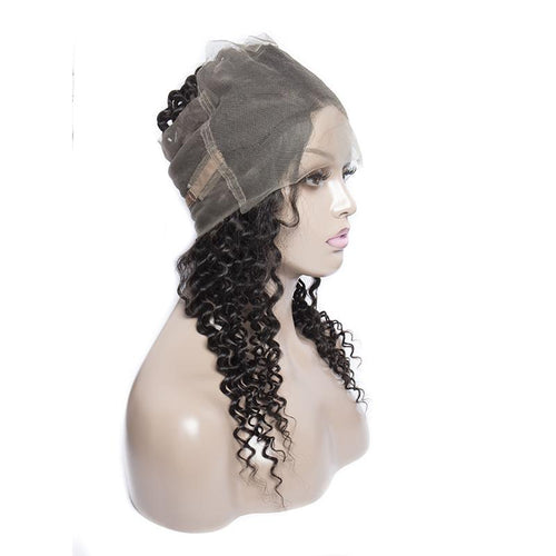 Queen Hair Inc Wholesale 360 Lace Frontal Deep Wave 100% Human Hair